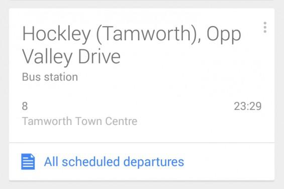 Google Now Bus