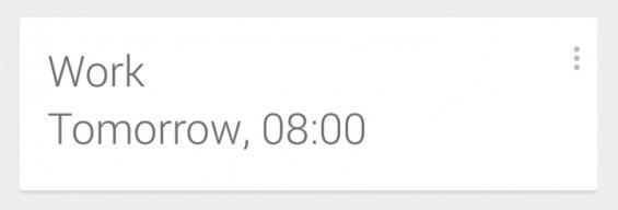 Google Now Calander