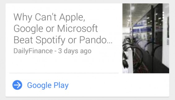 Google Now News