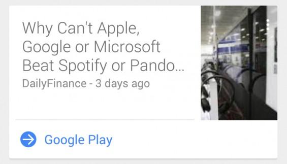 Google Now News