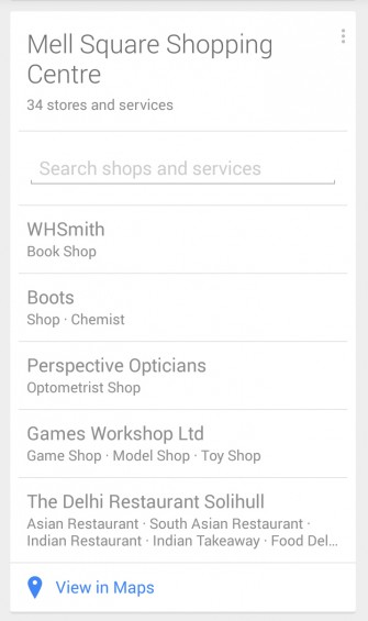 Google Now Shopping
