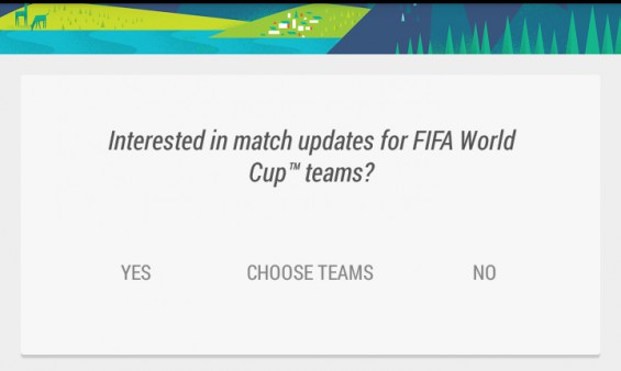 Google Now World Cup