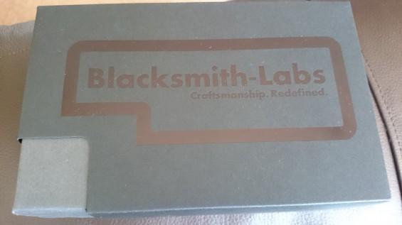 Blacksmith box on arrival