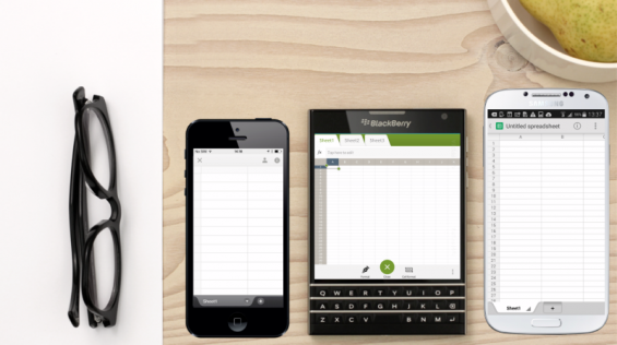 blackberry passport spreadsheet productivity