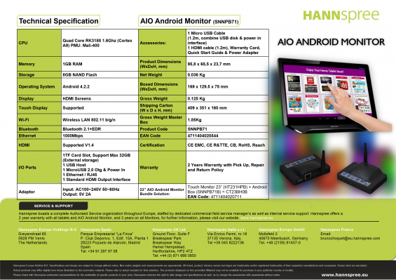aio android monitor specs