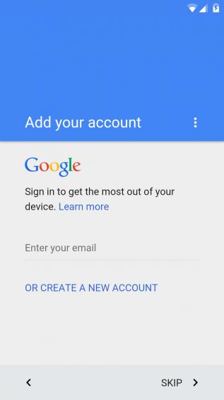 Adding Google Account