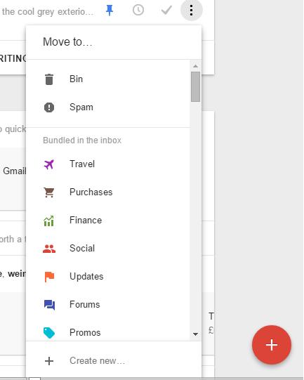 inbox new actions