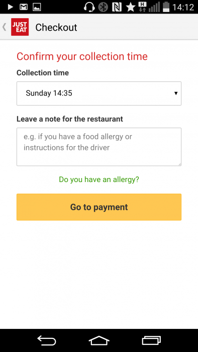 Getting Some Grub Quick Just Eat Mobile App Review