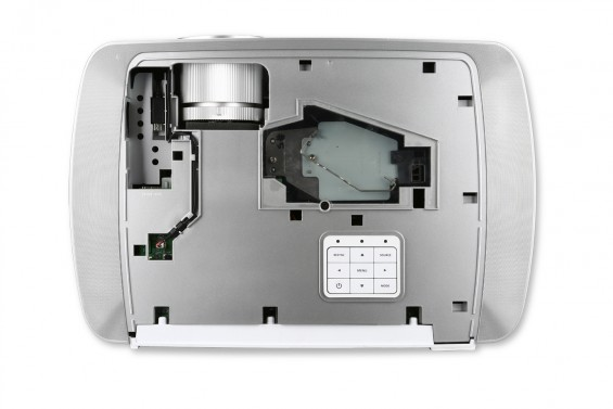 H7550ST projector inside view