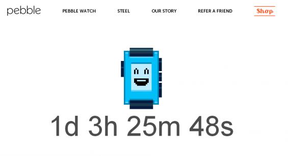 Pebble countdown