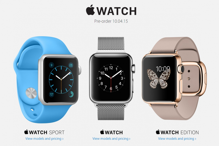 Apple Watch pricing
