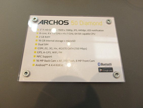 Archos 50 Diamond Pic1