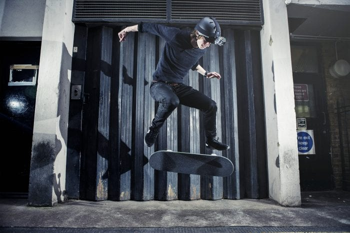 4GEE Action Cam   Skater Kickflip & Headmount