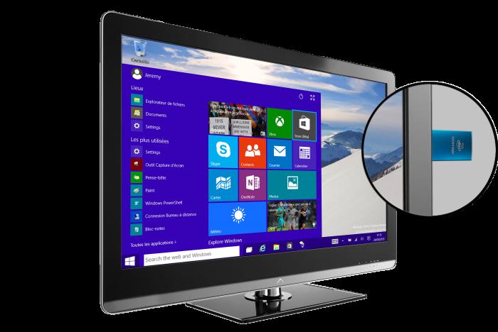 PC Stick TV et Zoom