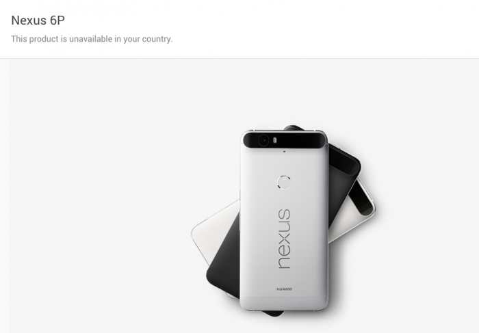 nexus 6p not available in your country