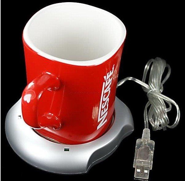 Wholesale Free Shipping USB Powered Coffee Warmer Heating Pad Plates aluminum USB Heating insulation pad Christ