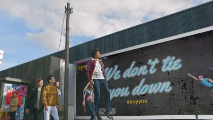 flying in front of billboard 1