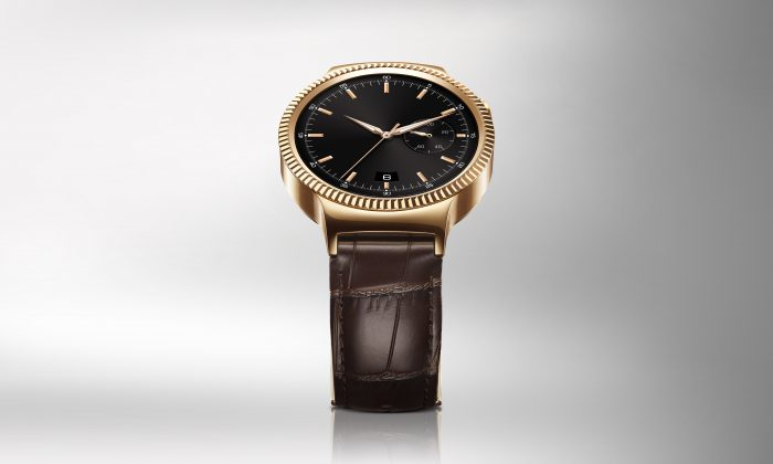 Huawei Watch HQ photos Elevation Gold with leather strap JPG 20150728
