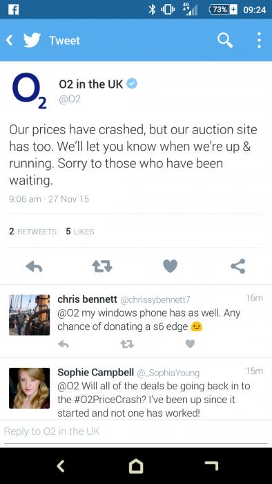 O2 Pricecrash Twitter Msg