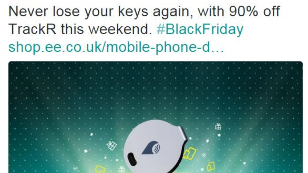 Black Friday Ee Chop 90 Off Trackr But Only In Store For Some Weird Reason Coolsmartphone