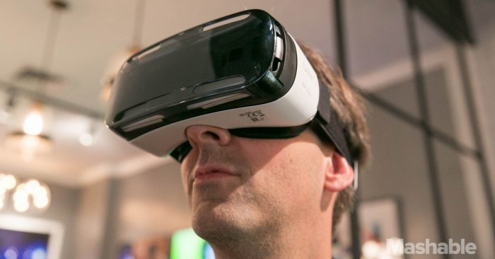 Wearing Samsung Gear VR