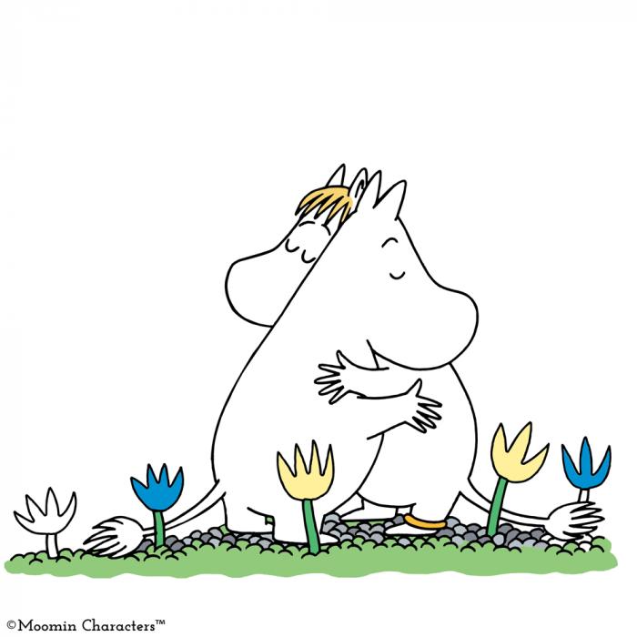 Moomin hug Moomijis