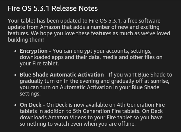 Fire OS Release 5.3.1