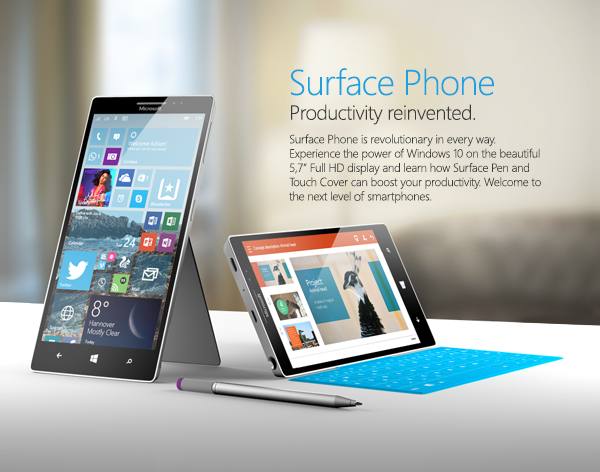 Surface Phone mock up
