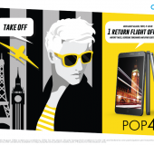 POP! Get a return flight across Europe when you buy an Alcatel POP 4