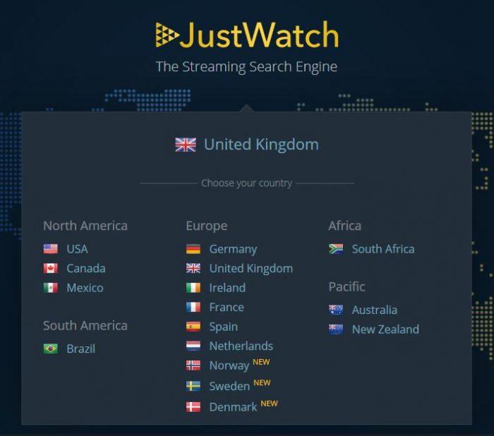 Justwatch regions