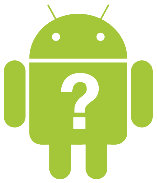android robot question mark