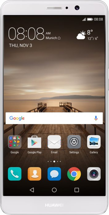 mate 9 moonlight silver front