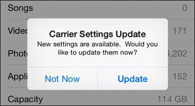Embedded carrier update