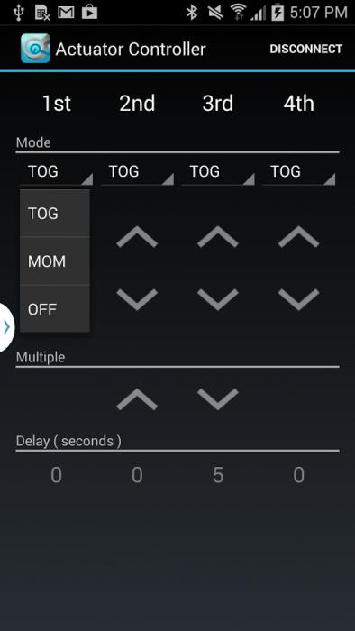 linear actuator control app screenshot3