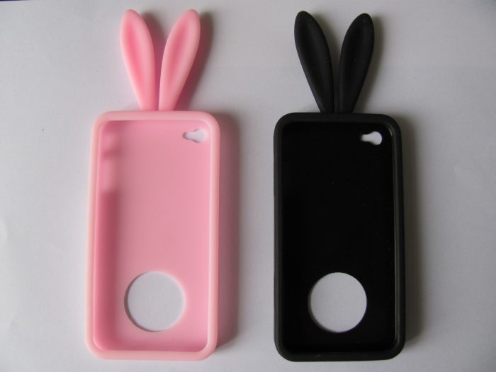 Silicone Phone Case for iPhone 4G Rabbit Phone Cover