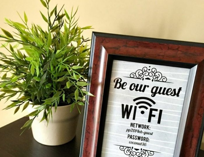 6ab7ff633dcfbf9f321d48b4c1bf4953  be out guest sign bedroom guest room wifi~2