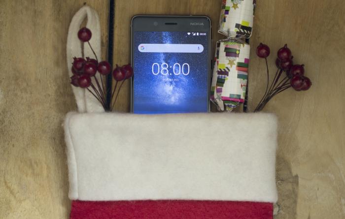 Nokia8 in stocking