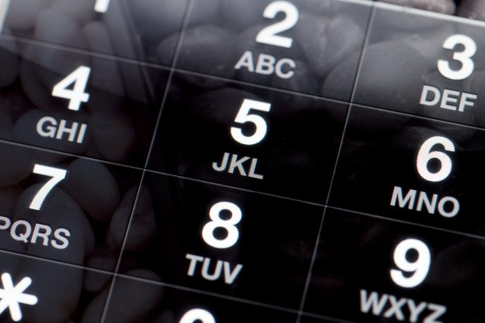 Black and White Dial Pad of a Mobile Phone