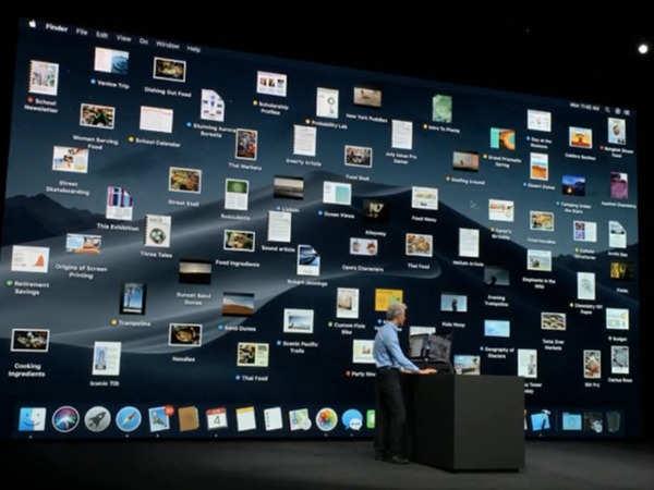 apple wwdc 2018 macos mojave with dark mode desktop stacks unveiled