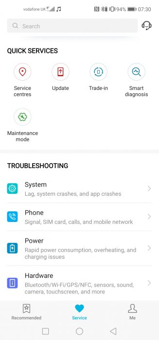 Screenshot 20190122 073032 com.huawei.phoneservice