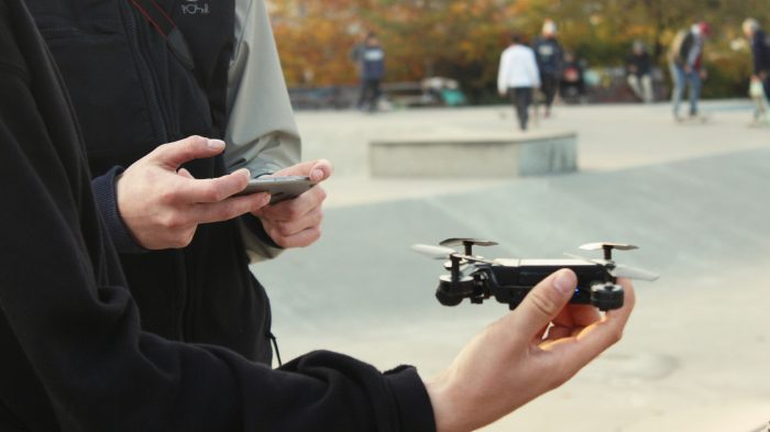 drone in hand HD
