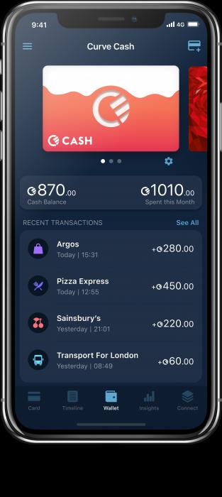 Curve Cash in App