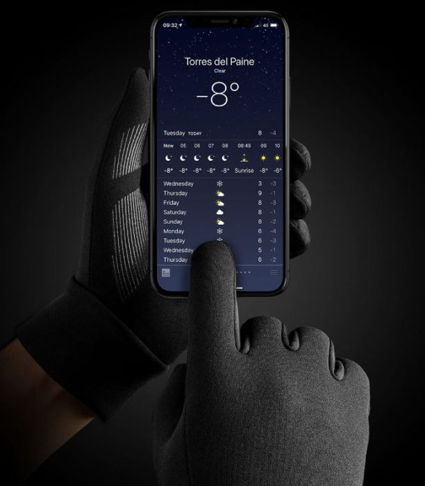 New ultra warm touchscreen gloves now available