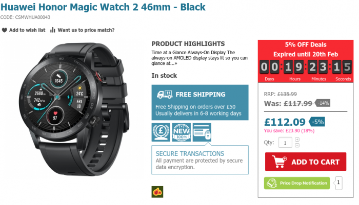 Honor MagicWatch 2   Deal!