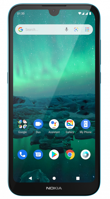 Nokia 1.3 CYAN GREEN FRONT HS DS PNG