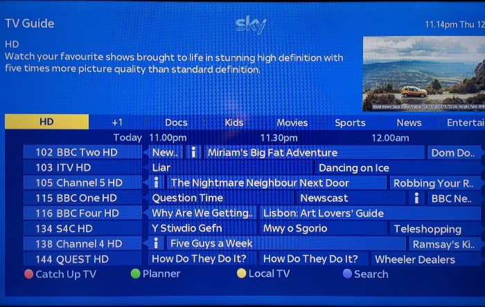Ditching Sky. What youre left with after the subscription ends..