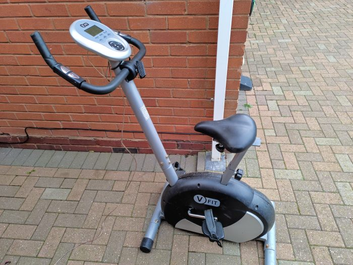 Home Active   Stay at home, but stay healthy. Adding a screen to an old exercise bike!