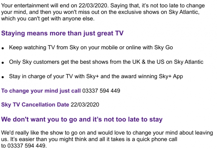 Ditching Sky, rejoining Sky and ditching Sky again