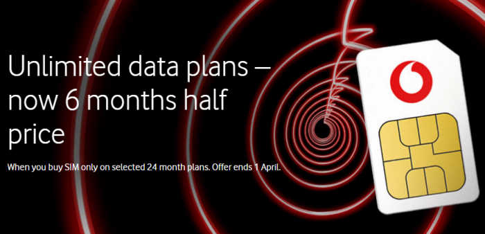 Vodafone slices half off SIM only plans for 6 months