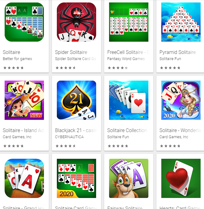 Learning card games on your phone